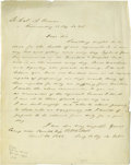 Autographs:Statesmen, William Ellery questions a bill for a Pillory for Providence RhodeIsland . William Ellery (1727-1820) Signer of the Dec...