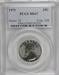 Washington Quarters: , 1979 25C MS67 PCGS. PCGS Population (35/1). NGC Census: (6/0).Mintage: 515,708,000. Numismedia Wsl. Price for NGC/PCGS coi...