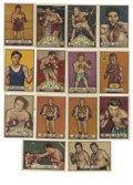 Boxing Cards:General, 1951 Topps Ringside Boxing Collection (14). Includes #2 Henry Armstrong (HOF), 3 Jake LaMotta (HOF) (P/F), 4, 9, (2) 17, 19,...