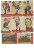 Hockey Cards:Lots, 1955-56 Parkhurst Hockey Near Complete Set (76/79). Near set ismissing only the following three cards - #44, 50, 67. Highl...