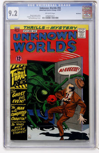 Unknown Worlds #55 Northland pedigree (ACG, 1967) CGC NM- 9.2 Off-white pages