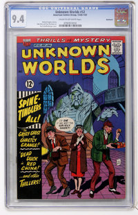 Unknown Worlds #52 Northland pedigree (ACG, 1967) CGC NM 9.4 Cream to off-white pages