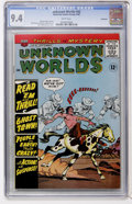 Silver Age (1956-1969):Horror, Unknown Worlds #42 Northland pedigree (ACG, 1965) CGC NM 9.4 Whitepages....