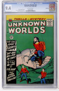 Silver Age (1956-1969):Horror, Unknown Worlds #33 Northland pedigree (ACG, 1964) CGC NM 9.4Off-white pages....