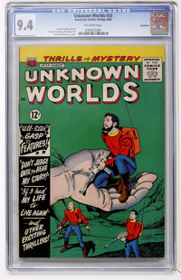 Unknown Worlds #33 Northland pedigree (ACG, 1964) CGC NM 9.4 Off-white pages
