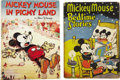 Books:Children's Books, A Pair of Mickey Mouse Story Books,... (Total: 2 Items)