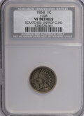 1858 P1C Indian Cent, Judd-208, Pollock-253-254, 259, 261, R.4-7,--Improperly Cleaned, Scratched--NCS. VF Details. NGC C...