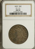 Bust Half Dollars, 1823 50C AU53 NGC. O-112. NGC Census: (35/402). PCGS Population(27/318). Mintage: 1,694,200. Numismedia Wsl. Price for NG...