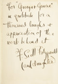 Books:Signed Editions, F. Scott Fitzgerald. Tender is the Night. New York: CharlesScribner's Sons, 1934. . ...