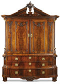 Furniture , A DUTCH NEOCLASSICAL MAHOGANY LINEN PRESS. Mid to Late 19th Century. 103 x 75-1/4 x 28 inches (261.6 x 71.1 cm). ...