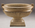 Decorative Arts, Continental:Other , A LARGE POLISHED GRANITE URN. 19th Century. 37 inches (94.0 cm)long. ...