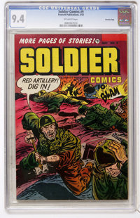 Soldier Comics #9 Crowley Copy pedigree (Fawcett, 1953) CGC NM 9.4 Off-white pages
