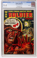 Golden Age (1938-1955):War, Soldier Comics #8 Crowley Copy pedigree (Fawcett, 1953) CGC NM 9.4Off-white to white pages....