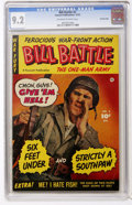 Golden Age (1938-1955):War, Bill Battle, The One Man Army #2 Crowley Copy pedigree (Fawcett,1952) CGC NM- 9.2 Off-white to white pages....