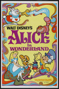 "Movie Posters:Animated, Alice in Wonderland (Buena Vista, R-1981). One Sheet (27"" X 41""). Animated...."
