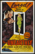 """Movie Posters:Science Fiction, The Unearthly (Republic, 1957). One Sheet (27"""" X 41""""). ScienceFiction...."""
