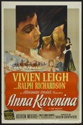 "Movie Posters:Drama, Anna Karenina (British Lion, 1948). One Sheet (27"" X 41"").Drama...."