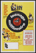 "Movie Posters:Rock and Roll, Teenage Millionaire (United Artists, 1961). One Sheet (27"" X 41"").Rock and Roll...."