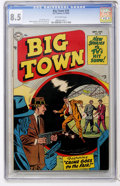 Golden Age (1938-1955):Crime, Big Town #29 (DC, 1954) CGC VF+ 8.5 Off-white pages....