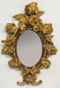 Decorative Arts, Continental:Other , A CONTINENTAL CARVED BASSWOOD MIRROR. Mid to Late 19th Century. 52inches (132.1 cm) high. ...