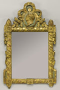 Furniture , A FRENCH PARCEL GILT WOOD MIRROR. 18th Century. 39 inches (99.1 cm) high. ...