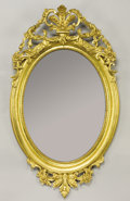 Furniture : Continental, A CONTINENTAL NEOCLASSICAL-STYLE GILT WOOD MIRROR. Late 19th-Early20th Century. 52-1/2 inches (133.4 cm) high. ...
