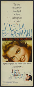 "Movie Posters:Drama, Paris Does Strange Things (Warner Brothers, 1956). Insert (14"" X 36""). Drama...."