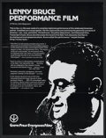 "Movie Posters:Documentary, Lenny Bruce Performance Film (Grove Press Evergreen Films, 1967). College Poster (21"" X 28""). Documentary...."