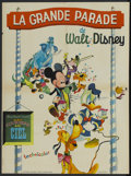 "Movie Posters:Animated, Disney Stock Poster (Buena Vista, 1963). French Petite (22.5"" X 30"") La Grande Parade de Walt Disney. Animated...."