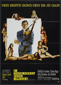 "Movie Posters:James Bond, On Her Majesty's Secret Service (United Artists, 1970). German A1(23.25"" X 33""). James Bond...."