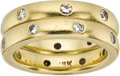 Estate Jewelry:Rings, Pair of Diamond, Eternity Bands, Katy Briscoe. ... (Total: 2 Items)