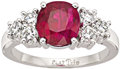 Estate Jewelry:Rings, Ruby, Diamond, Platinum Ring. ...