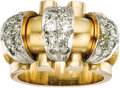 Estate Jewelry:Rings, Retro Diamond, Gold Ring. ...