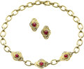 Estate Jewelry:Suites, Ruby, Diamond, Gold Jewelry Suite. ... (Total: 3 Items)
