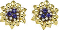 Estate Jewelry:Earrings, Sapphire, Diamond, Gold Earrings, Aletto Bros.. ... (Total: 2Items)
