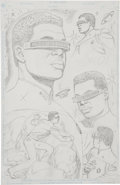 Original Comic Art:Splash Pages, Jay Scott Pike - Star Trek TNG Finale Pin-Up Concept of Geordi (DCComics, 1994)....