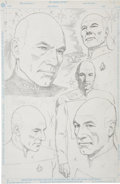 Original Comic Art:Splash Pages, Jay Scott Pike - Star Trek TNG Finale Pin-Up Concept of Picard (DCComics, 1994).. ...