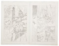 Original Comic Art:Panel Pages, Jay Scott Pike - Fantasy Comic Pages Unpublished Original Art,Group of 2 (undated)....