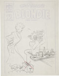 Original Comic Art:Covers, Blondie Cover Rough Original Art (Harvey, undated)....