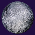Meteorites:Irons, MUONIONALUSTA METEORITE CRYSTAL BALL - CRYSTALLINE STRUCTURE OF AN IRON METEORITE DRAMATIZED IN THREE DIMENSIONS. ...