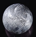 Meteorites:Irons, MUONIONALUSTA MARBLE - CRYSTALLINE STRUCTURE OF AN IRON METEORITE DRAMATIZED IN THREE DIMENSIONS. . ...