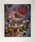 "Original Comic Art:Miscellaneous, Carl Barks - ""Afoul of the Flying Dutchman"" Regular EditionLithograph, 112/345 (Another Rainbow, 1985).... (Total: 2 Items)"