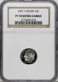 Proof Roosevelt Dimes: , 2001-S 10C Silver PR70 Ultra Cameo NGC. PCGS Population (88/0).Numismedia Wsl. Price for NGC/PCGS coin...