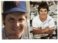 Autographs:Photos, Pete Rose and Tom Seaver Signed Neil Leifer Photographs Lot of 2.Dazzling pair of images shot by Neil Leifer come from his...