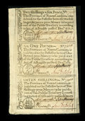 Colonial Notes:North Carolina, North Carolina December, 1771 2s6d, £1, 10s Uncut Sheet Gem New....