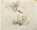 "Animation Art:Production Drawing, ""Fantasia"" Pegasus Storyboard Drawing Animation Original Art(Disney, 1940)...."