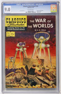 Golden Age (1938-1955):Science Fiction, Classics Illustrated #124 The War of the Worlds - First Edition(Gilberton, 1955) CGC VF/NM 9.0 Off-white pages....