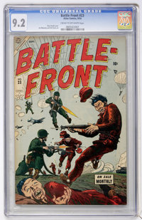 Battlefront #23 (Atlas, 1954) CGC NM- 9.2 Cream to off-white pages
