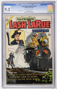 Lash LaRue Western #53 (Fawcett, 1955) CGC NM- 9.2 Off-white to white pages
