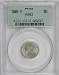 Barber Dimes: , 1905-O 10C MS63 PCGS. PCGS Population (29/64). NGC Census: (27/66).Mintage: 3,400,000. Numismedia Wsl. Price for NGC/PCGS ...